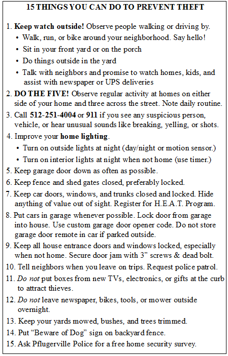 15 Ways To Cut Down Thefts