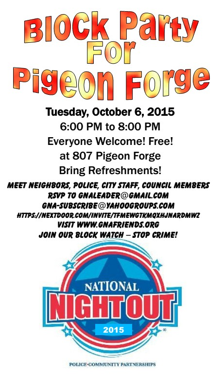 Flyer 2015 NNO Gatlinburg